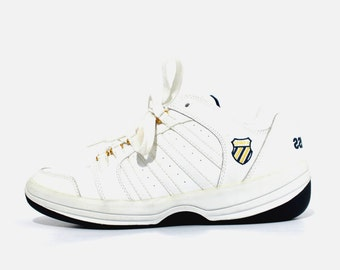 NOS 1990s K SWISS White Leather Sneakers