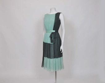 designer dress / Draped Goddess Vintage Fernando Sarmi Silk Chiffon Party Dress