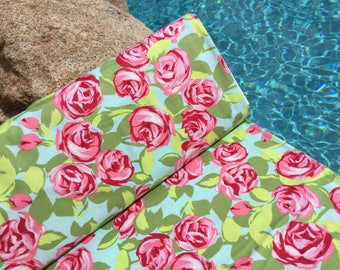 FQ ~ Half Yard ~ By the Yard ~ Tumble Roses Pink ~ Love Collection by Amy Butler, Cotton Quilt Fabric