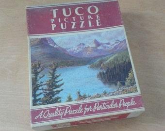 Vintage Tuco Picture Puzzle • Beautiful Lake St. Mary • Mountain Lake Scene