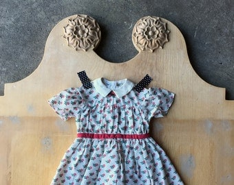 Vintage Pleasant Company Dress, Addy's Summer Dress, American Girl, Addy, Retired Design