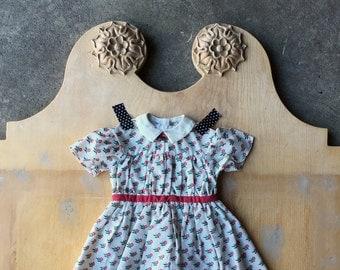Vintage Pleasant Company Dress, Addy's Summer Dress, American Girl, Addy, Retired Design
