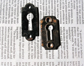 Antique Vintage Keyhole Covers DIY Jewelry Steampunk Jewelry
