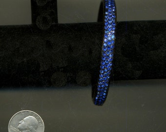 CeLLuLOID ArT DECO  BLUE RHINESTONEs Flapper BAnGle BracELET