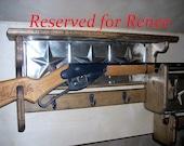 Red Ryder BB Gun Rack Wall Shelf