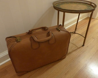 Vintage Luggage Leather Valise Travel
