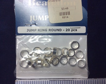 Silver plated  Jump Rings 7.5mm