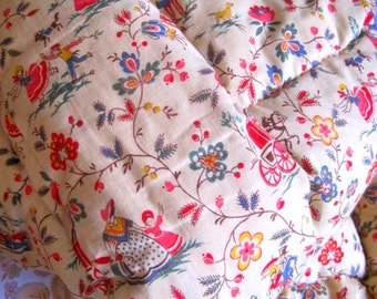 Vintage French quilt/eiderdown from the 1940s