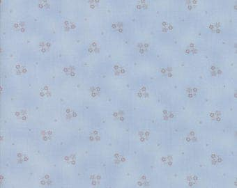 Lily Will Revisited Blue Gray floertd fabric | Moda fabric 2807 24 | Cotton Quilting fabric