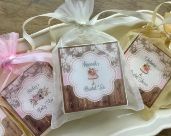 Rustic chic shower favors, bridal shower, baby shower, wedding, farmhouse country, soap favors, set of 12