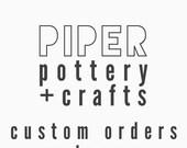 Custom order for Angela - spoon rest and sponge tray set