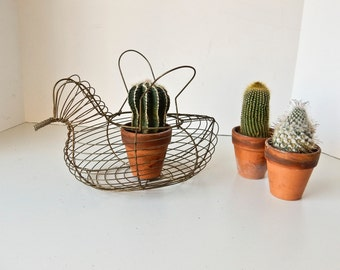 Wire Chicken Basket, Wire Egg Basket, Vintage Wire Egg Basket, Antique Wire Basket