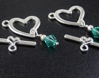 CLEARANCE Findings Supplies Grab Bag Clasps 2 sets Bead Bicone Swarovski Crystals Widows Orphans (216grab1)