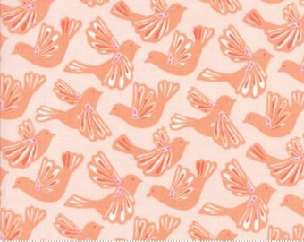 MODA Early Bird Flock Geranium Peach 27261 11  by Kate Spain