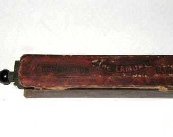 Razor Strop Antique Lamont Combination Two Sided Hone and Leather Strop with Original Box