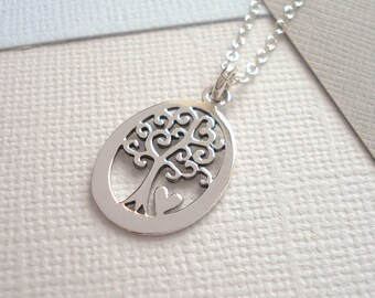 Tree Of Life + Heart Necklace