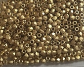 Fire Polish True 2MM Brushed 24K Gold Plated  -  Approx 100 pieces