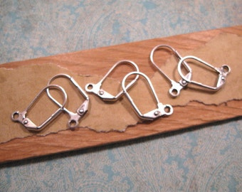 Large Antique Silver Leverback Ear Wires from Nunn Design - 6 Count