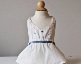 ON SALE 1930s Sailor Sunsuit~Size 3 Months