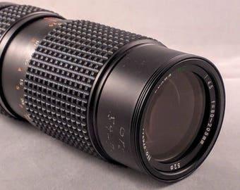Osawa MC auto  80-205mm f/4.5 Minolta SLR lens zoom