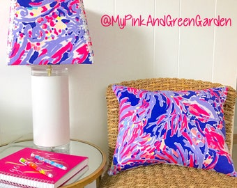 Custom lampshade made with Your Choice Lilly Pulitzer fabric