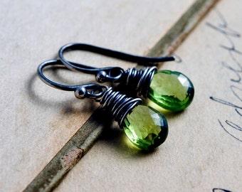 Peridot Earrings, August Birthstone, Drop Earrings, Gemstone Jewelry, Birthstone Earrings, Dangle Earrings