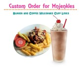 Custom Order for Mnjenkles - Grilled Mushroom Burger and Coffee Milkshake Cufflinks