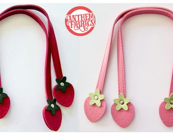 """Sweet Fruit Handles By Atsuko for Lecien Japan - Red Strawberry 16"""" Medium - 1 pair - choose a color"""