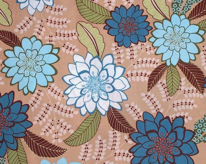 SALE  1 yard  - Lindsay Floral TT3946BG Beige- Timeless Treasures Karen Montgomery