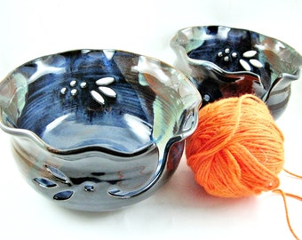 Special edition, Yarn bowl, Large knitting bowl, pottery yarn bowl - In stock