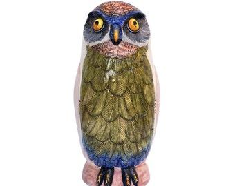 Vintage Italian Owl Planter, Vase or Umbrella Stand Regency Pottery