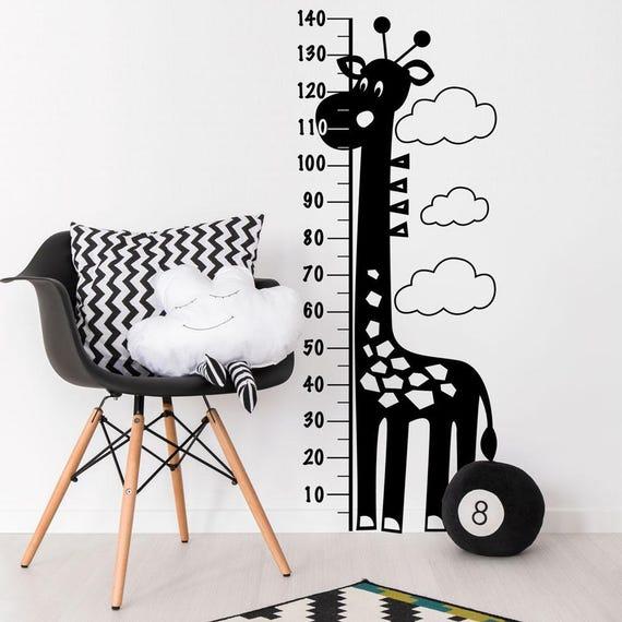 Giraffe Height Chart Wall Decal