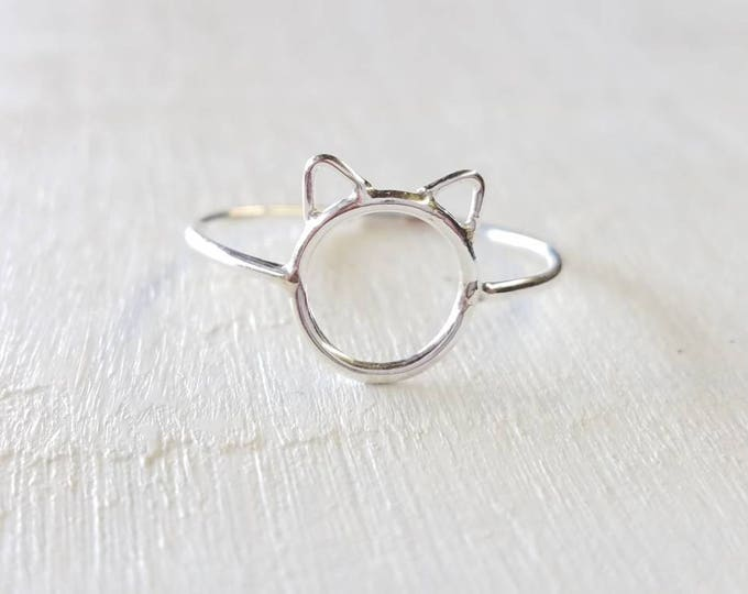 Cat Ring Sterling Silver