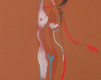 Nude painting of One minute pose 102.2 - Original nude painting by Gretchen Kelly