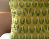 Modern Wing  Quilted Pillow Cover