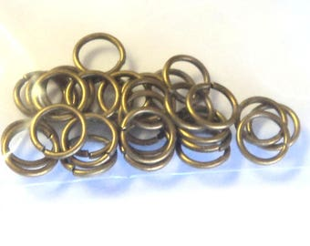 50 Antique Bronze 5mm Jump Rings,  jewelry supplies, findings, diy jewelry, jumprings