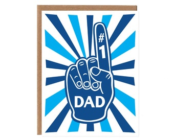 Dad Foam Finger -- Birthday and Father's Day Card