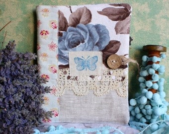 Fabric covered notebook vintage fabric