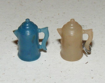 Vintage Cracker Jack Charms Miniature Coffee Pot Lot of 2