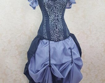 SALE Privateer Skirt and Shrug Black and Grey Set-One Size Fits All