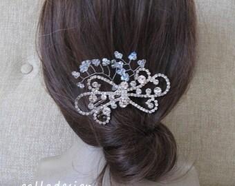 Bride rhinestone, crystal hair comb, Bride hair accessory, crystal wedding hair comb, wedding hair comb, crystal hair comb, Art Deco Wedding