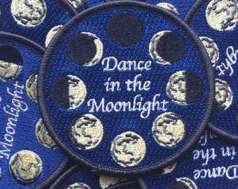 Embroidered Iron On Patch Dance in the Moonlight