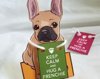Keep Calm Tan Frenchie - Desk Decor Paper Doll