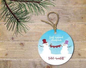 First Christmas Ornament, First Christmas Together, First Christmas Married, Our First Christmas, Wedding Gift, Bridal Shower Gift, Snowmen
