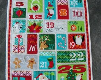 Kids Advent Calendar Christmas Wall Hanging Dear Santa Housewares Holiday Wall Decor