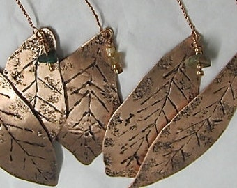 Tree Ornaments. Leaf Ornaments. Copper Tree Ornaments Set of 5.Pure Copper Ornaments.Wholesale Priced.