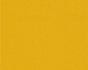 213062 ocre solid Canvas fabric Kokka Japan