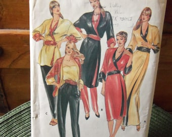 Vintage Butterick Pattern # 3484 Size Petite Fast & Easy Misses' Reversible dress Jacket Camisole and Pants
