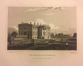 1832 Print The President's House, Washington