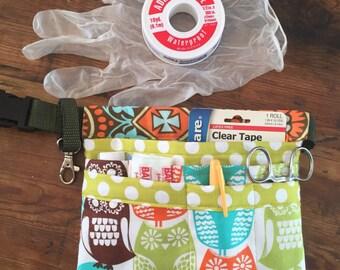 Swedish Owls RN Scrub Pocket, Hip Bag, Utility Belt, Hipster, Tool Belt  With Pockets, Swivel Hook  and Slide Clip Buckle